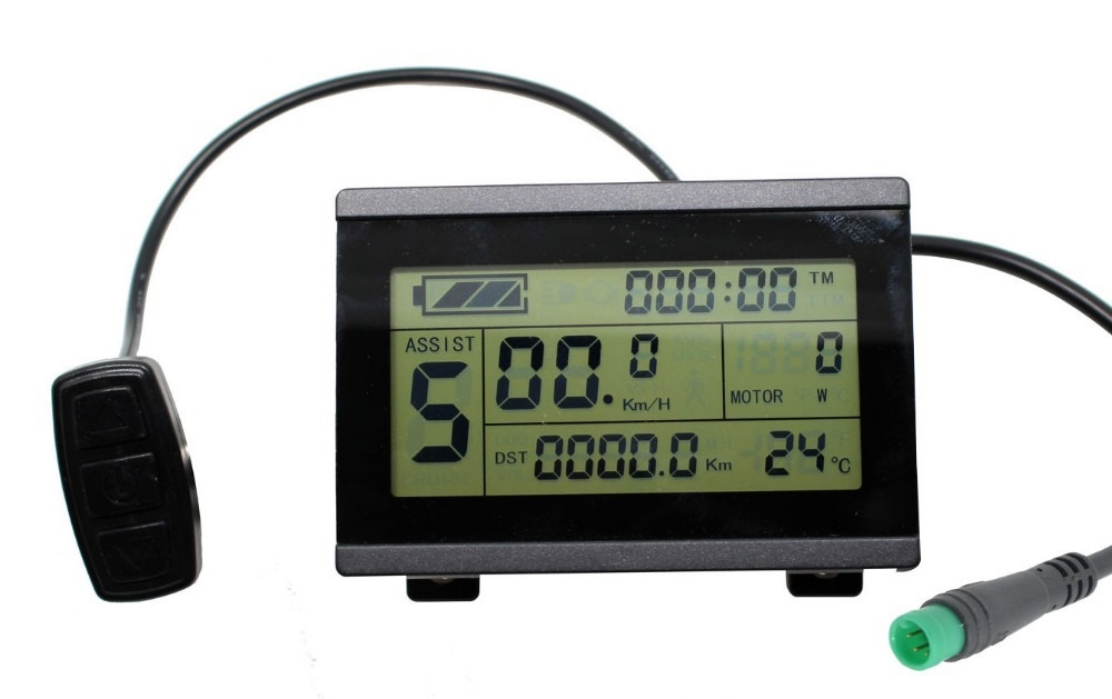 Ebike 24v 36v 48v intelligent black kt lcd5 control panel lcd.